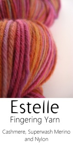 Hand-dyed Cashmere and Silk and Merino Fingering weight Sock yarn