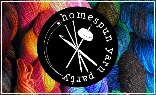 homespun yarn party, handdyed, hand-dyed, knitting, yarn