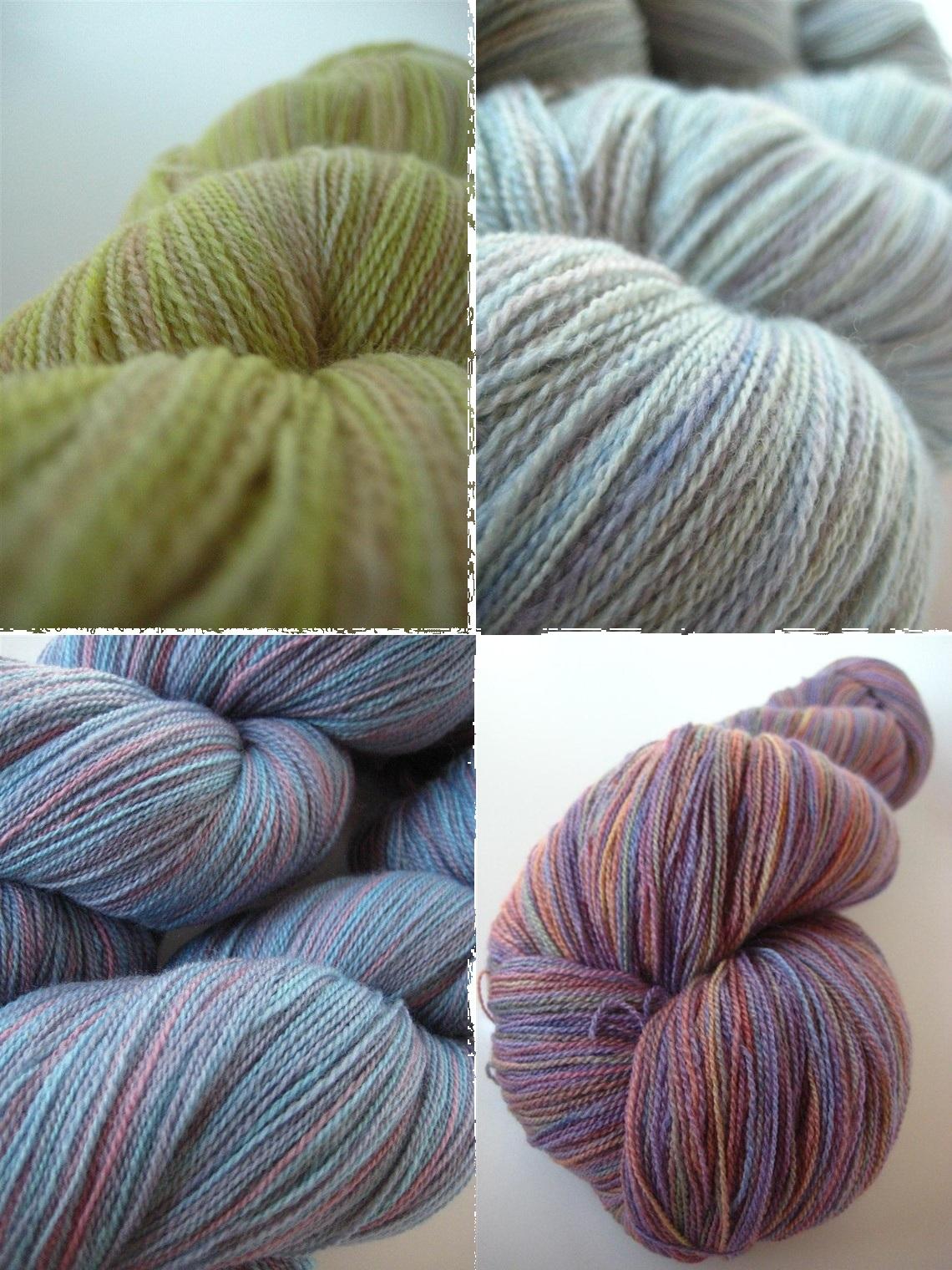 hand-dyed, handdyed, yarn, lace weight, silk, merino, knitting, crochet