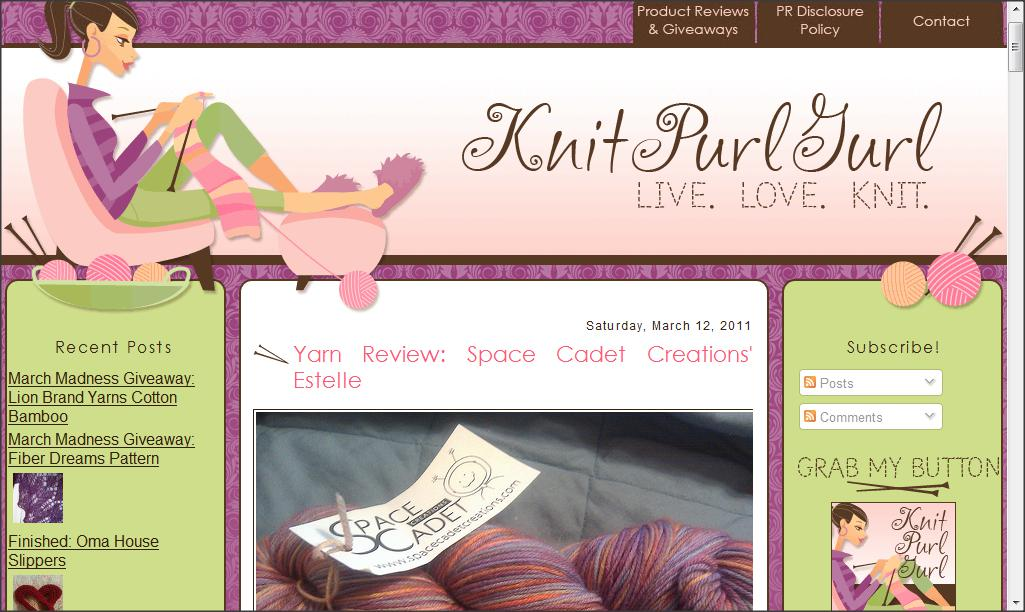 knitpurlgurl, sock yarn, yarn, knitting, spacecadet