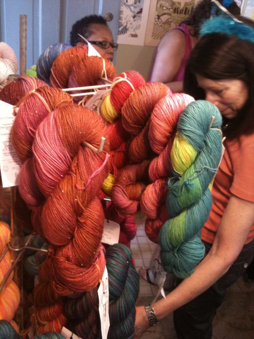 yarns at the PLY Party, yarn, sock yarn, knitting, crocet, space cadet, spacecadet, lovelyarns, indie dyer, hand dyed